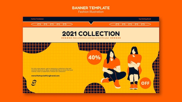 Fashion concept banner template Free Psd