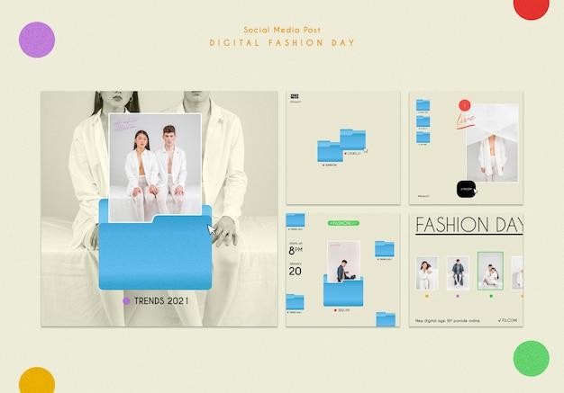 패션 데이 소셜 미디어 게시물 템플릿 무료 PSD 파일