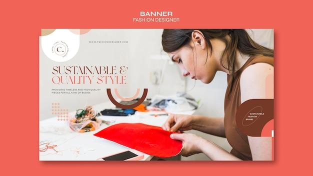 패션 디자이너 개념 배너 서식 파일 프리미엄 PSD 파일