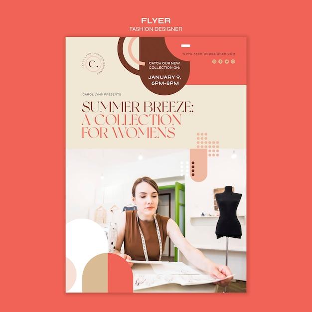 패션 디자이너 컨셉 전단지 템플릿 무료 PSD 파일