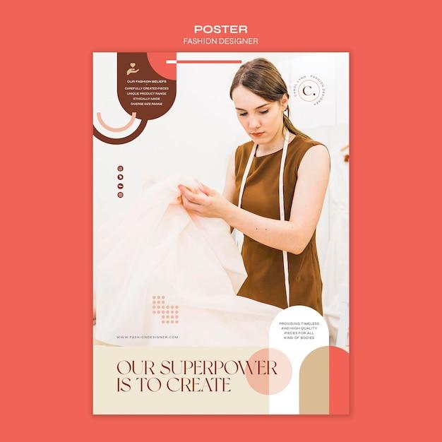 패션 디자이너 컨셉 포스터 템플릿 무료 PSD 파일