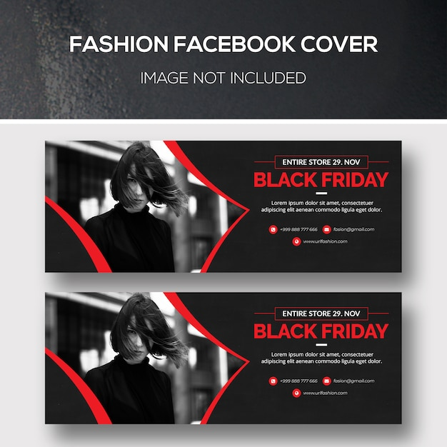 Fashion facebook cover for black friday Premium Psd