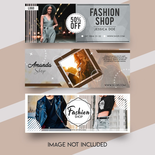 Fashion facebook cover template Premium Psd