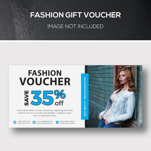 Fashion gift voucher Premium Psd