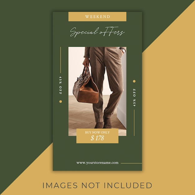 Fashion instagram flyer stories modern and elegant Premium Psd
