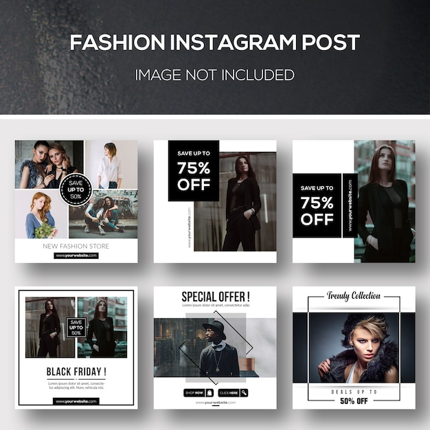 Fashion instagram post Premium Psd