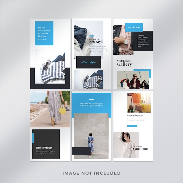 패션 Instagram 스토리 템플릿 프리미엄 PSD 파일