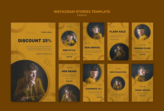 Fashion instagram stories Free Psd