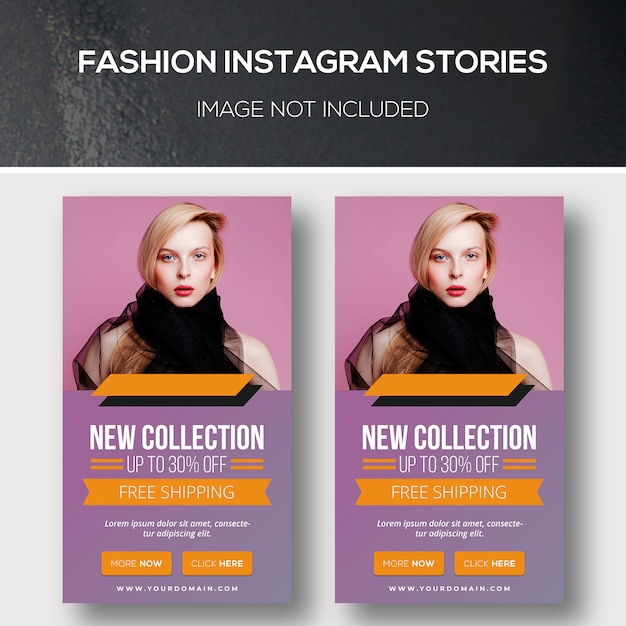 Fashion instagram stories Premium Psd
