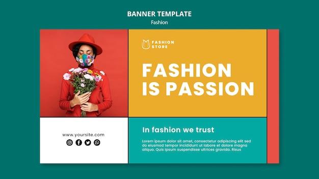 패션은 열정 가로 배너입니다 무료 PSD 파일
