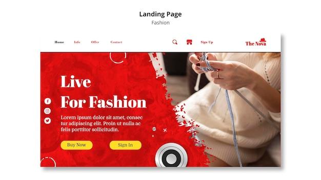 Fashion landing page template Free Psd