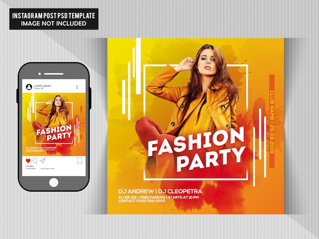 Fashion party flyer Premium Psd