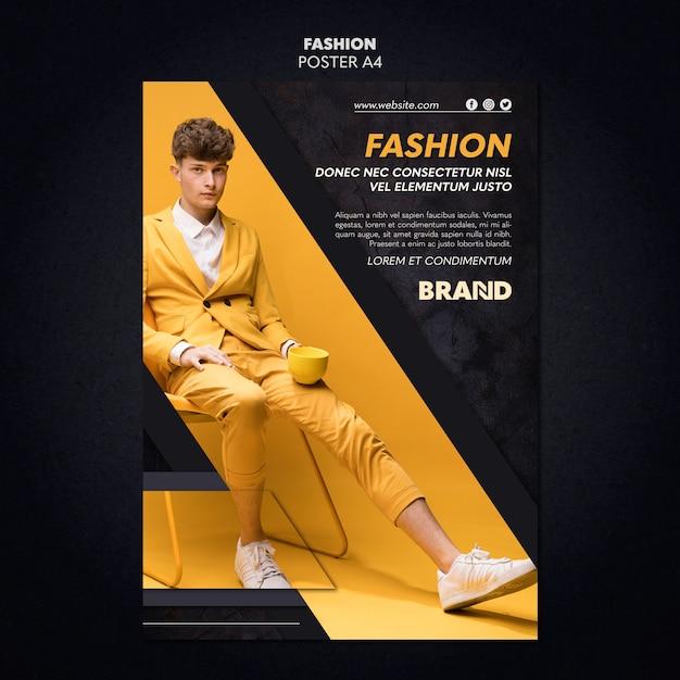 Модный дизайн плаката Бесплатные Psd