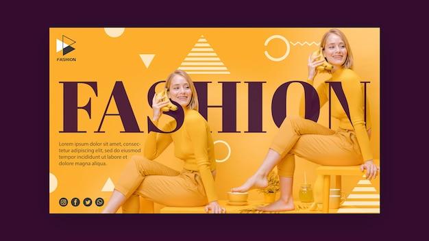 Модный рекламный баннер Premium Psd