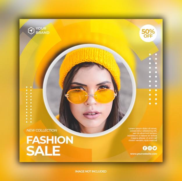Fashion sale banner for social media post template Premium Psd