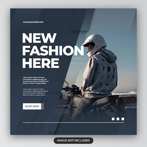 Fashion sale banner or square flyer for social media post template Premium Psd