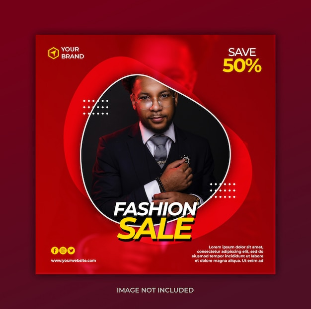Fashion sale banner template Premium Psd