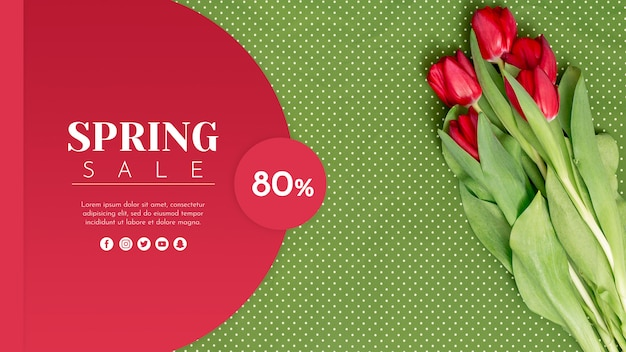 Fashion sale banner template Free Psd