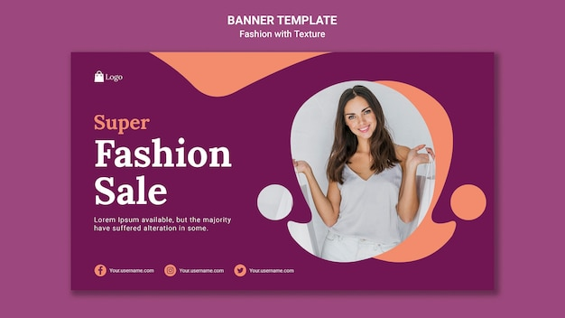 Fashion sale banner web template Free Psd