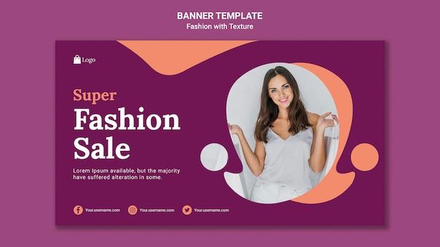 Modello web di banner di vendita di moda Psd Gratuite