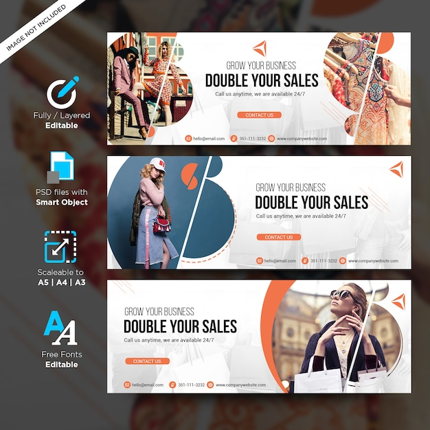Fashion sale creative  template for social media banners with copyspace Premium Psd