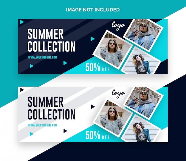 Fashion sale facebook timeline cover banner Premium Psd