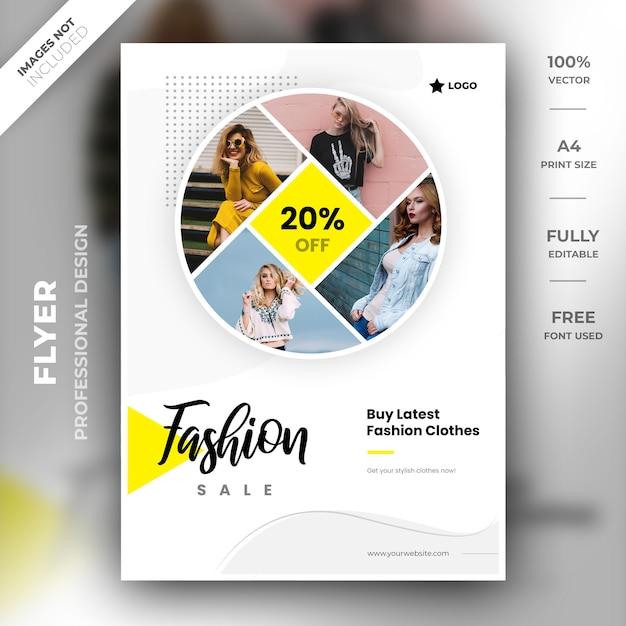 Fashion sale flyer template Premium Psd