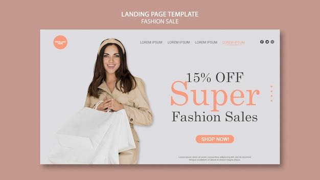 Fashion sale landing page template Free Psd