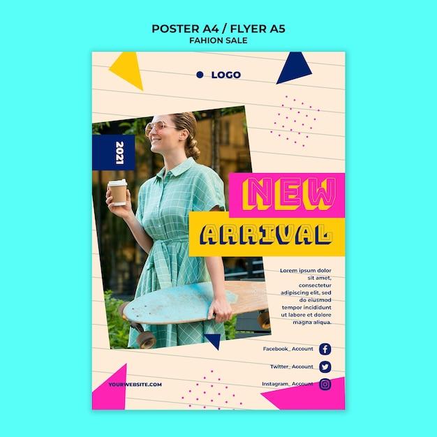 Шаблон плаката продажи моды Бесплатные Psd