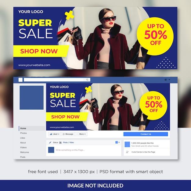 Fashion sale promo for facebook cover Premium Psd