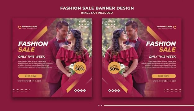 Fashion sale social media banner design Premium Psd