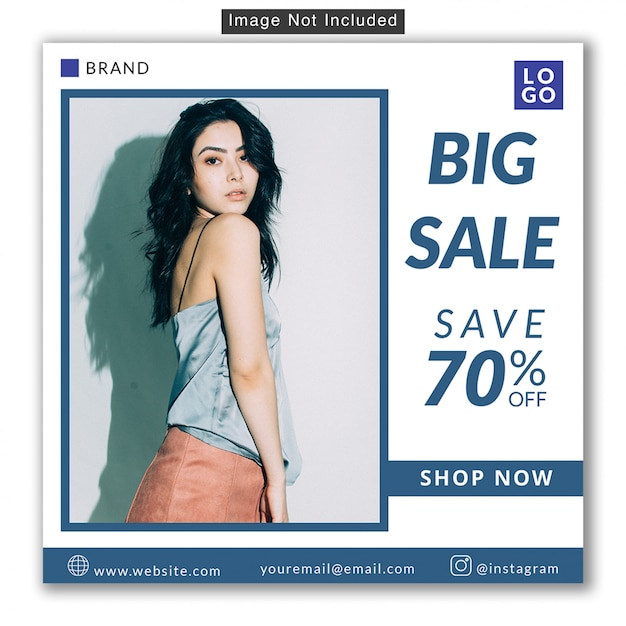 Fashion sale social media instagram banner premium psd Premium Psd