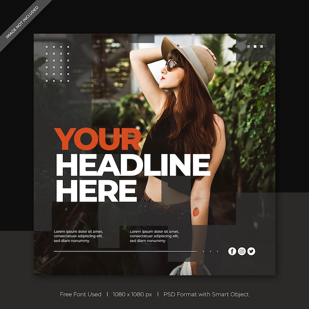 Fashion sale social media post banner template Premium Psd