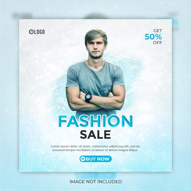 Fashion sale social media post or instagram banner template Premium Psd
