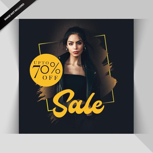 Fashion sale social media post template Premium Psd