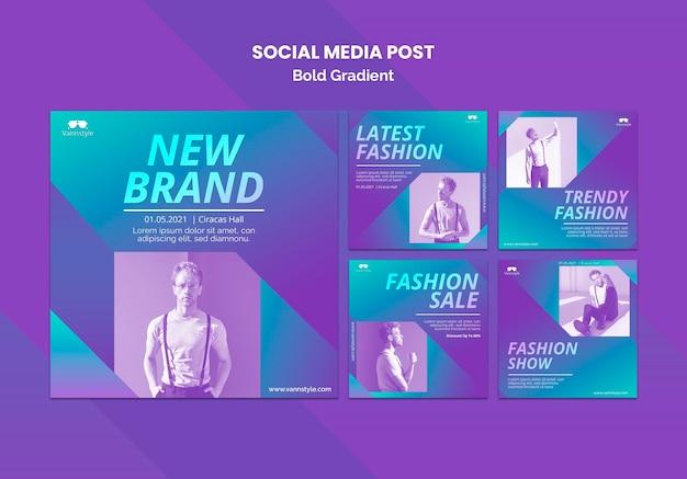 패션 판매 소셜 미디어 게시물 무료 PSD 파일