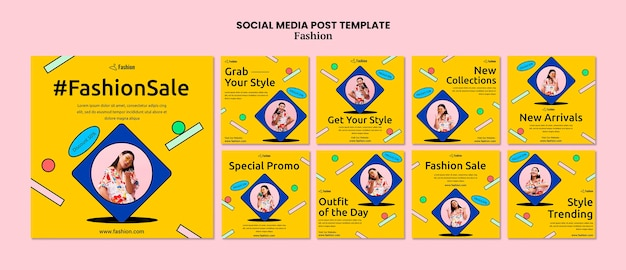 Fashion sale social media post Premium Psd