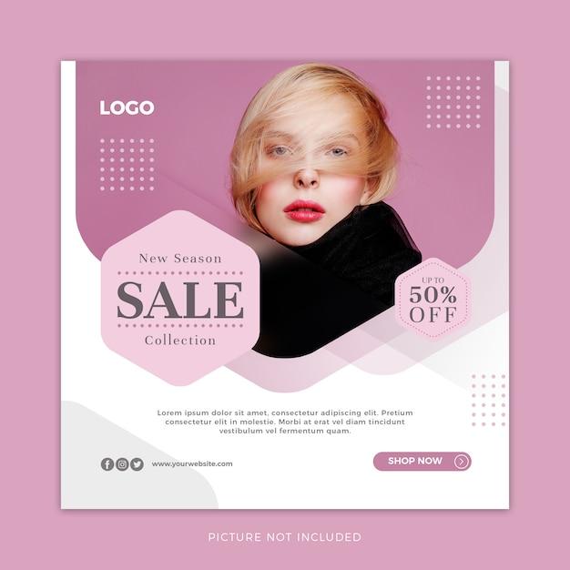 Fashion sale social media template Premium Psd