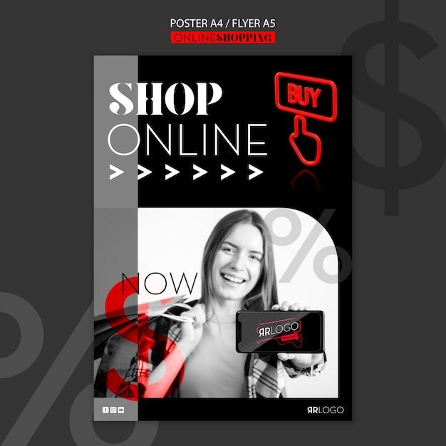 Modello di poster online negozio di moda Psd Gratuite