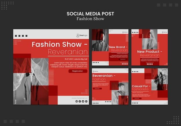 Post di social media per sfilate di moda Psd Gratuite