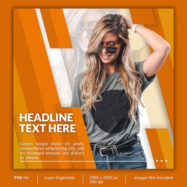 Fashion social media banner template psd with modern design Premium Psd