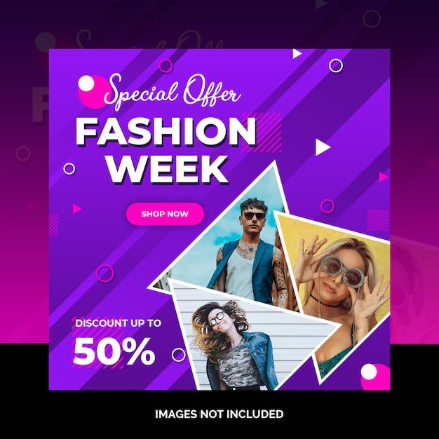 Fashion social media post design Premium Psd
