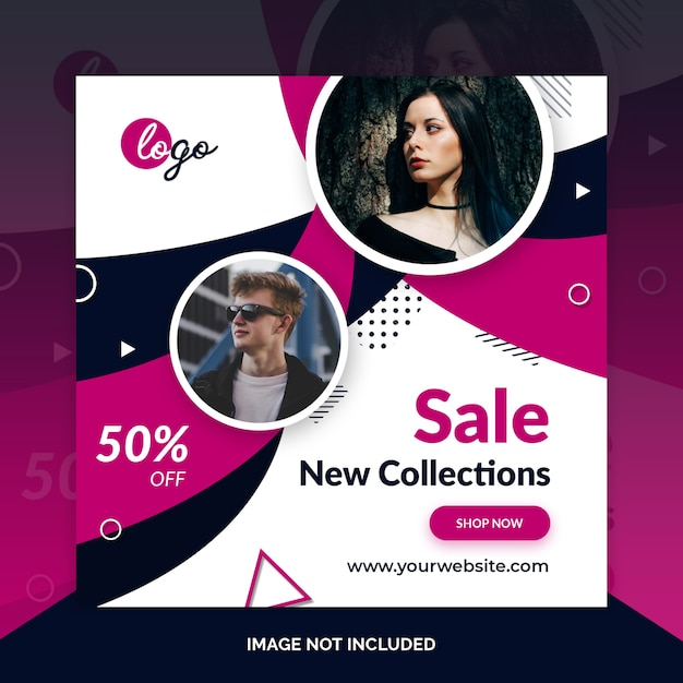 Fashion social media post design Premium Psd