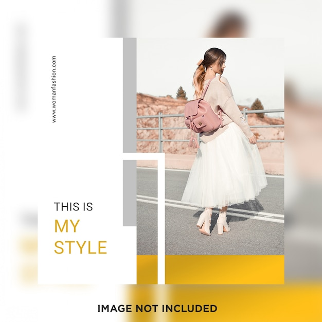 Fashion social media post template Premium Psd