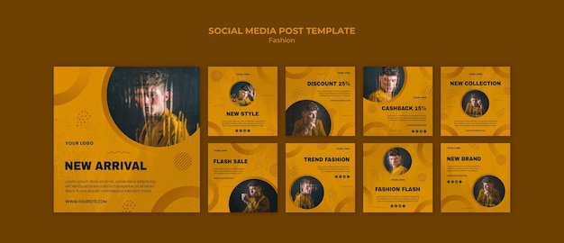 Fashion social media post Free Psd