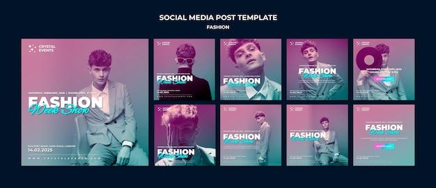 패션 소셜 미디어 게시물 프리미엄 PSD 파일