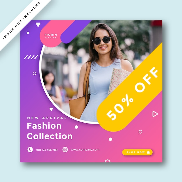 Fashion social media promotion  banner Premium Psd