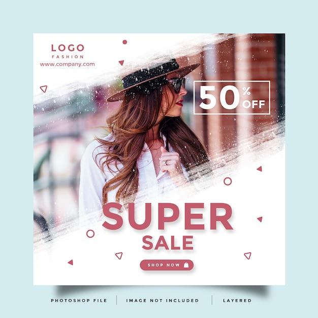 Fashion social media promotion layout Premium Psd