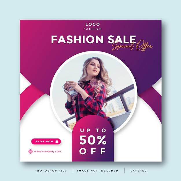 Fashion social media promotion Premium Psd