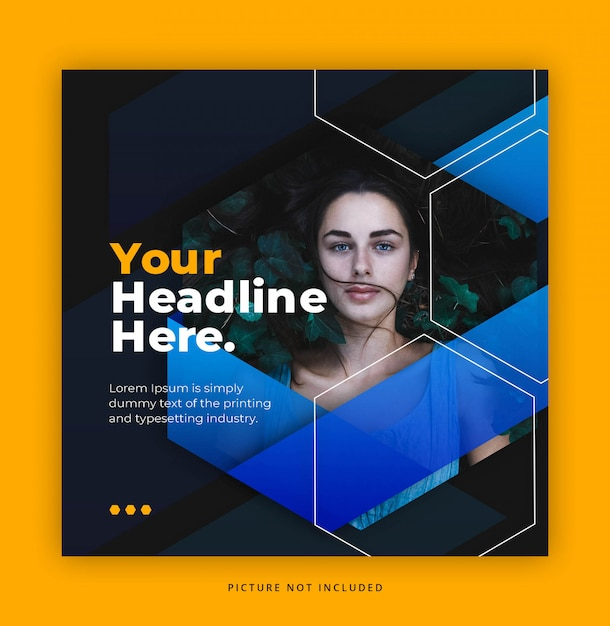 Fashion square banner or flyer template Premium Psd